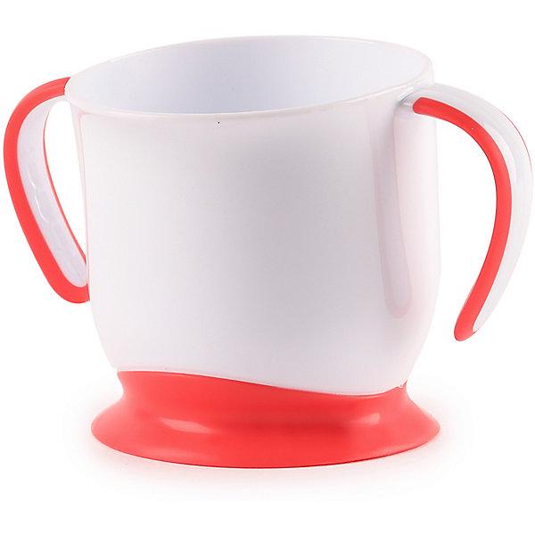 кружка на присоске happy baby baby cup with suction base 15022 red Happy Baby Кружка на присоске Happy Baby, ruby