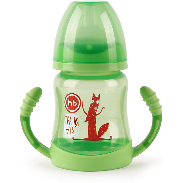 цена на Happy Baby Поильник для кормления с ручками Happy Baby 210 мл, grass