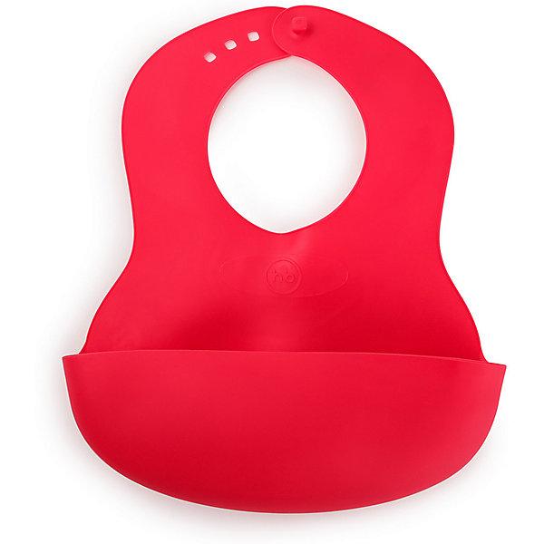 Happy Baby Нагрудник пластиковый Happy Baby, ruby нагрудник happy baby на липучке waterproof baby bib lime десерт 16009