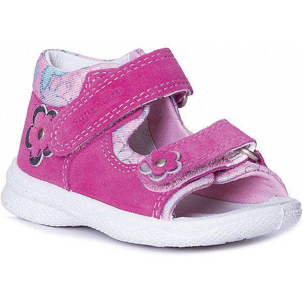 Купить Сандалии SUPERFIT для девочки, Румыния, блекло-розовый, 20, 23, 26, 25, 24, 22, 21, Женский