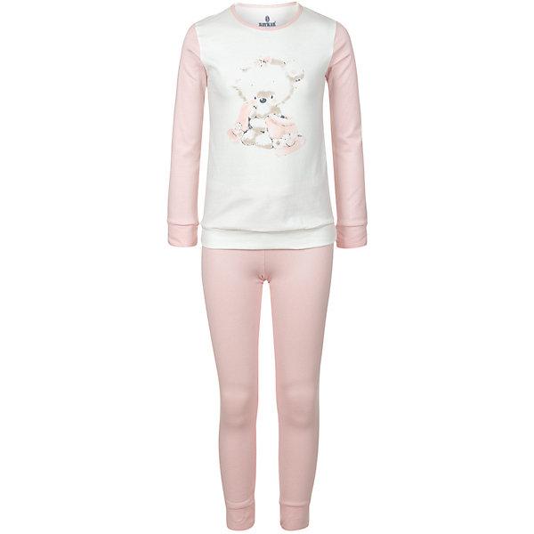 Пижама BAYKAR для девочкиПижамы и сорочки<br>Характеристики:<br><br>• состав ткани: 95% хлопок, 5% эластан<br>• в комплекте: кофта, штаны<br>• сезон: круглый год<br>• страна бренда: Турция<br><br>Пижама с высоким содержанием хлопка хорошо сохраняет тепло и впитывает влагу во время сна. У кофты круглый вырез горловины. Спереди принт в виде медвежонка. Рукава выполнены в цвет штанов. Комплект комфортно прилегает к телу.
