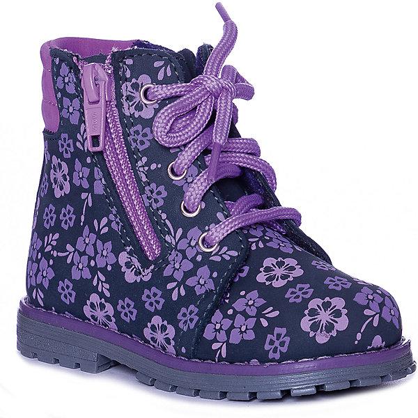 Ботинки Котофей для девочки, Синий