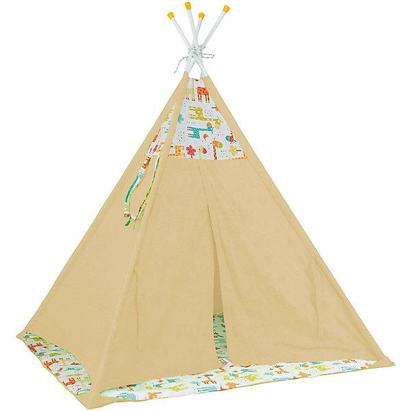 Polini-kids Палатка-вигвам детская Polini Жираф, желтая