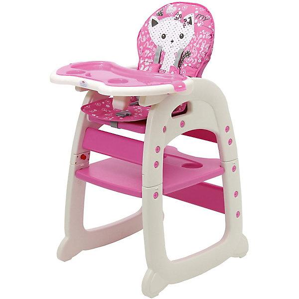 Купить Стульчик для кормления Polini 460, розовый, Polini-kids, Россия, Унисекс