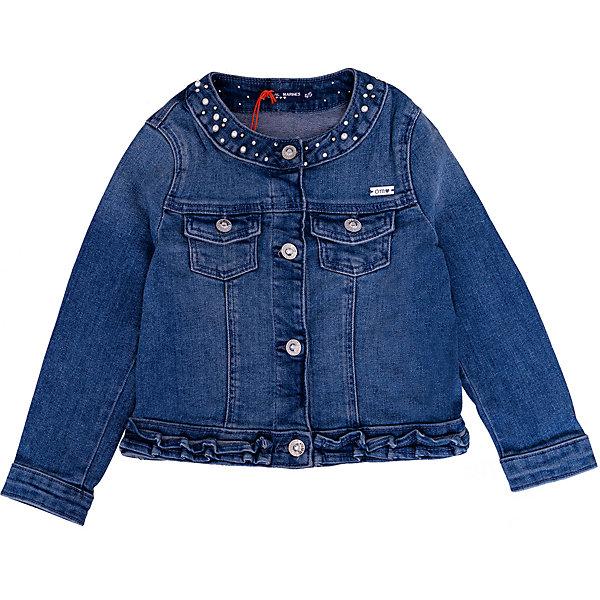 Купить Куртка джинсовая Original Marines для девочки, Пакистан, синий, 140, 98, 164, 152, 128, 104, 116, Женский