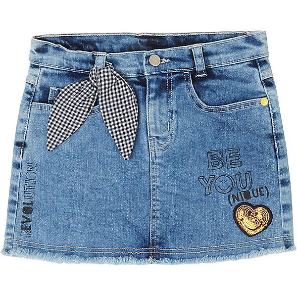 Купить Юбка джинсовая Original Marines для девочки, Пакистан, голубой, 104, 152, 164, 140, 116, 128, 98, Женский