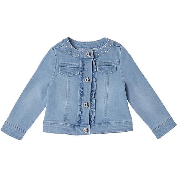 Купить Куртка джинсовая Original Marines для девочки, Индия, синий, 68, 80, 86, 98, 74, 92, Женский