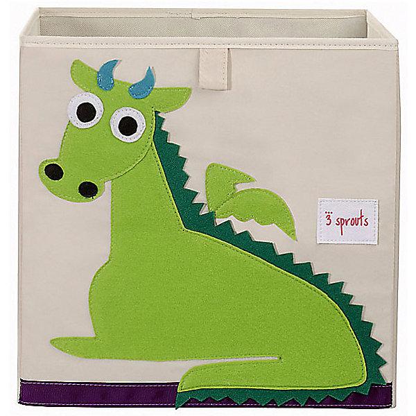 3 Sprouts Коробка для хранения 3 Sprouts, Дракон коробка для хранения обуви white clean 35 21 14 см