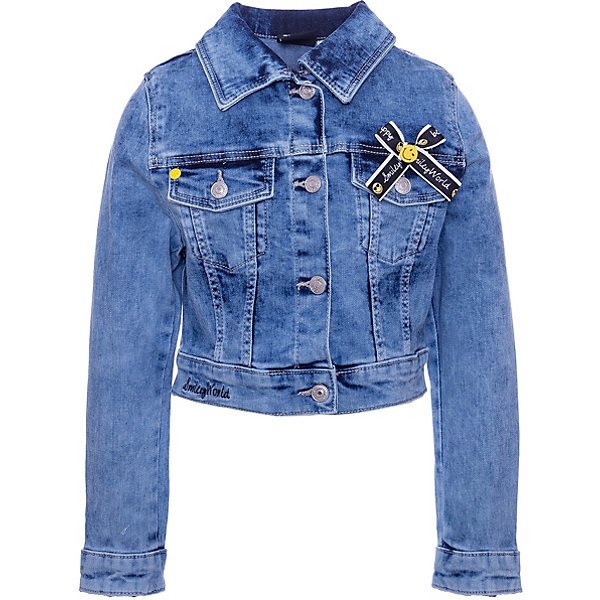 Купить Куртка джинсовая Original Marines для девочки, Пакистан, синий, 128, 164, 140, 98, 116, 152, 104, Женский