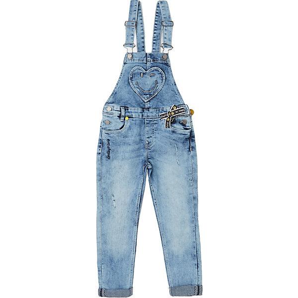 Купить Комбинезон джинсовый Original Marines для девочки, Пакистан, голубой, 140, 152, 104, 116, 98, 128, 164, Женский