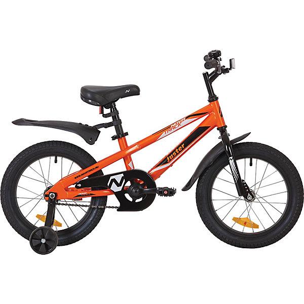 Novatrack Велосипед Juster 16 дюймов, оранжевый