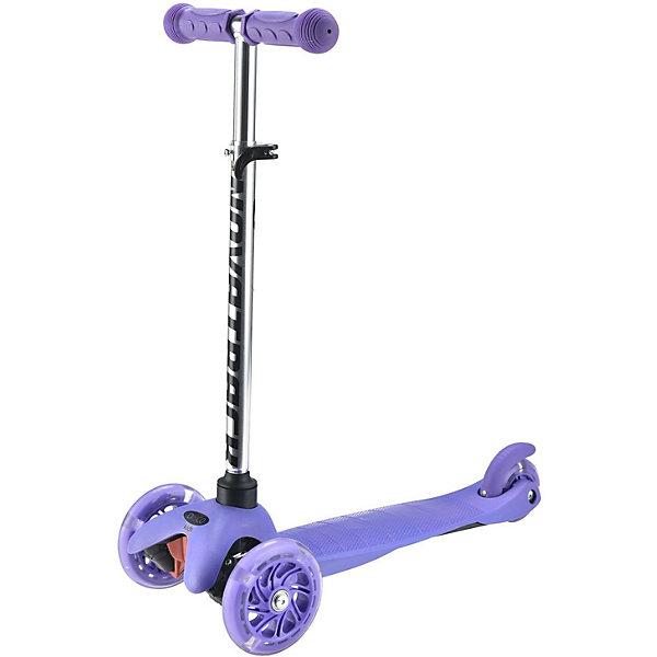 Трехколесный самокат Novatrack Disco-kids, фиолетовый