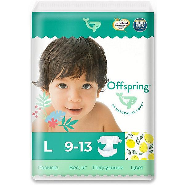 Offspring Эко-подгузники Лимоны L 9-13 кг., 36 шт.