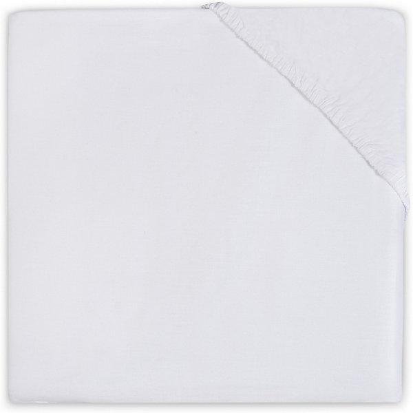 Простыня на резинке Jollein 60х120 смПостельное белье в кроватку новорождённого<br>Характеристики товара:<br><br>• ткань: бязь<br>• состав: 100% хлопок <br>• плотность: 125 гр/м2<br>• однотонная ткань<br>• приятная фактура<br><br>Простыня на резинке со сдержанным однотонным дизайном, благодаря которому изделие можно сочетать с наволочками и пододеяльниками в разных цветовых гаммах, создавая свой неповторимый постельный ансамбль. Бязь хорошо впитывает влагу и сохраняет тепло. Качественные материалы позволяют ткани выдержать большое количество стирок.