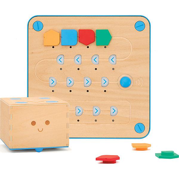 Набор для программирования Primo Toys Робот CubettoРобототехника и электроника<br>Характеристики:<br><br>• материал: дерево липы, ABS-пластик, бумага, полиэстер<br>• в комплекте: робот, интерфейсная доска, 16 функциональных блоков, карта, книга на русском языке<br>• время работы: до 5 часов<br>• необходимы батарейки <br>• страна бренда: Великобритания<br><br>Уникальный робот, который научит основам программирования даже самых маленьких. Отправляйте его в увлекательное приключение, используя карту и обучающую книжку с заданиями, переходя от простейших задач к написанию собственных алгоритмов. Интерфейсная доска проста в управлении. Для того чтобы привести робота в движение, необходимо расположить на ней функциональные блоки в произвольном порядке, либо в порядке, описанном в книге. Выполнен из экологически чистых, обработанных и безопасных материалов. Карта приключений легко очищается в стиральной машине.