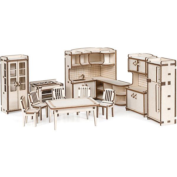 Lemmo Набор кукольной мебели Кухня для домика Венеция из дерева