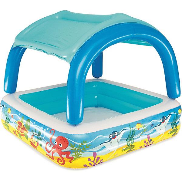 Надувной бассейн с  навесом от солнца