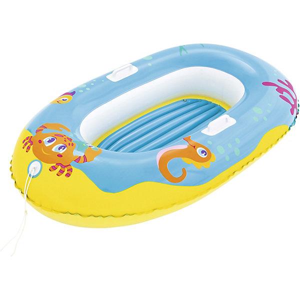 Лодочка для плавания Bestway Крабики, голубаяПринадлежности для плавания<br>Характеристики:<br><br>• материал: винил<br>• размер: 119х79 см <br>• надувается с помощью насоса (в комплект не входит)<br>• страна бренда: США<br><br>Надувная лодочка выполнена в виде тигренка. Удобное сиденье и ручки позволят ребенку комфортно расположиться, не боясь упасть. Выполнена из прочного материала и легко надувается.