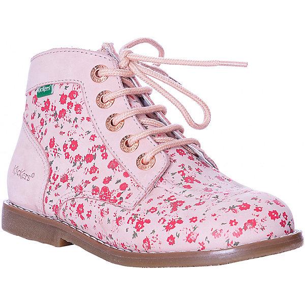Купить Ботинки Kickers Kouklgnd для девочки, Индия, розовый, 35, 31, 37, 34, 38, 30, 32, 33, 36, Женский