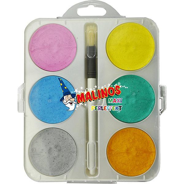 Malinos Набор перламутровых акварельных красок, 6 шт