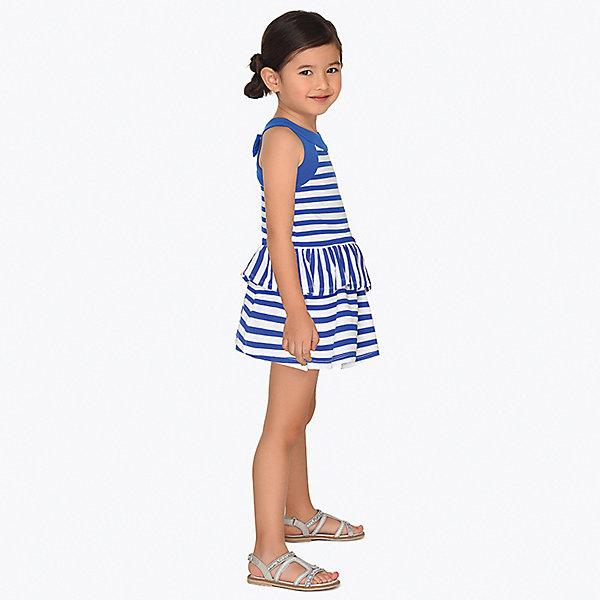 Купить Платье Mayoral для девочки, Турция, синий, 122, 104, 110, 98, 134, 128, 116, 92, Женский