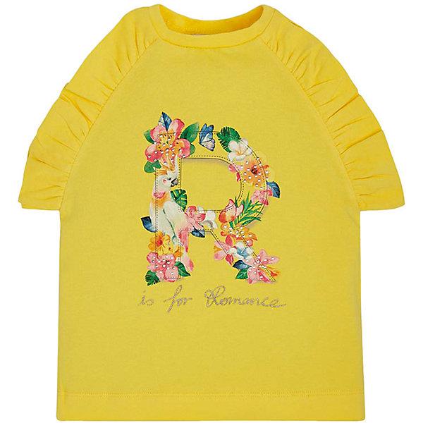 Купить Майка Mayoral для девочки, Индия, желтый, 128, 104, 116, 110, 98, 92, 122, 134, Женский