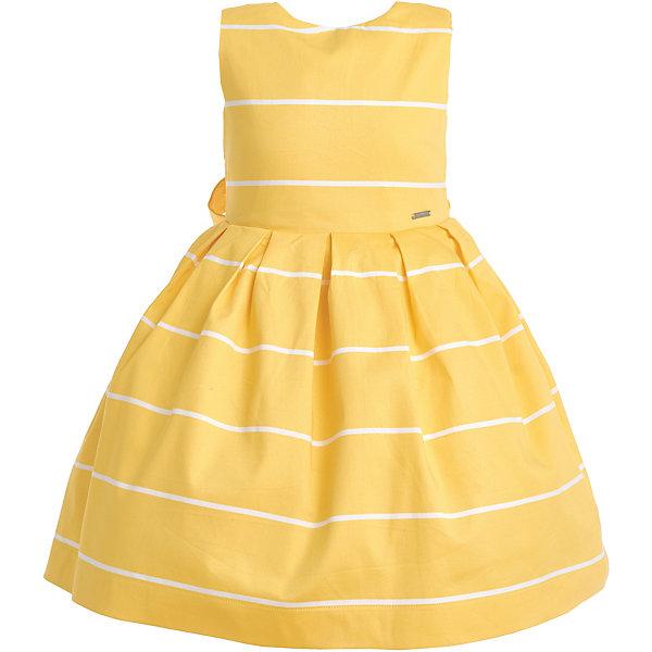 Купить Платье Gulliver для девочки, Китай, желтый, 128, 98, 110, 104, 122, 116, Женский