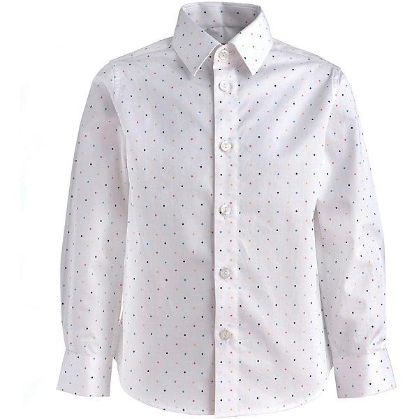 Купить Сорочка Gulliver для мальчика, Китай, белый, 128, 122, 104, 116, 110, 98, Мужской