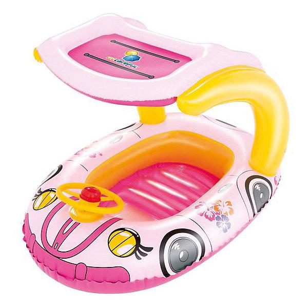 Bestway Надувная лодочка Машинки, розовая