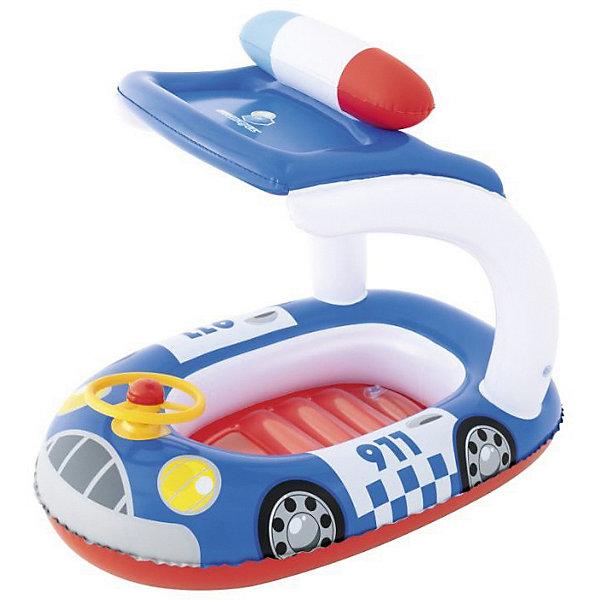 Bestway Надувная лодочка Машинки, синяя