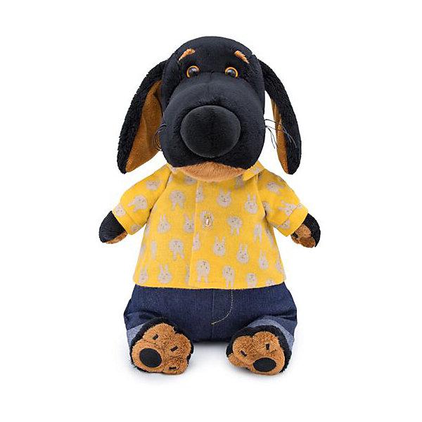 Budi Basa Мягкая игрушка Собака Ваксон в джинсах и желтой рубашке, 25 см