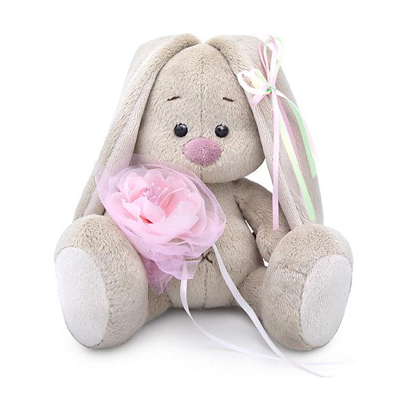 Budi Basa Мягкая игрушка Budi Basa Зайка Ми c розовым цветком, 15 см