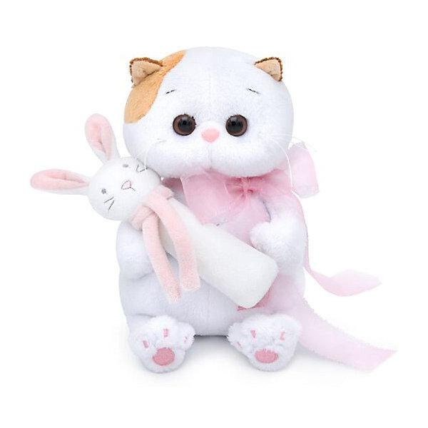 Мягкая игрушка Budi Basa Кошечка Ли-Ли Baby с погремушкой, 20 смМягкие игрушки-кошки<br>Характеристики:<br><br>• серия: БасикCo<br>• размер игрушки: 20 см<br>• материал: искусственный мех, текстиль, пластик<br>• набивка: полимерное волокно, полиэтиленовые гранулы<br>• тип упаковки: картонная коробка<br><br>Очаровательная малышка в бело-розовых тонах порадует своим оригинальным видом и качеством исполнения. Ли-Ли удобно держать в руках, весело играть, а также приятно спать с ней.<br><br>Игрушка выполнена из безопасных материалов,  комбинированная набивка хорошо держит форму. Аксессуары и фурнитура надежно закреплены на изделии. Упакована в подарочную коробку с атласной лентой.