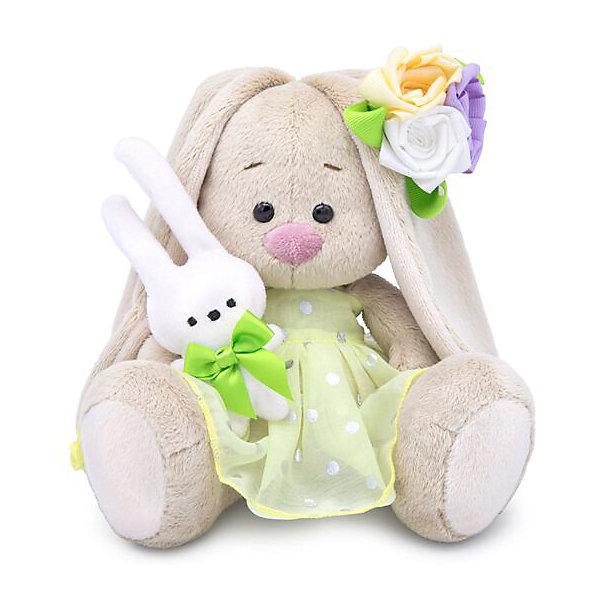Купить Мягкая игрушка Budi Basa Зайка Ми с зайчиком и нарядным цветком, 15 см, Россия, бежевый, Унисекс