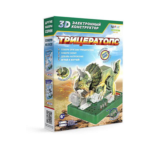 Купить Электронный 3D-конструктор ND Play Трицератопс, Китай, разноцветный, Унисекс