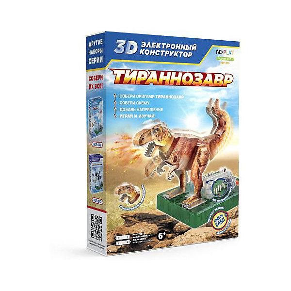Купить Электронный 3D-конструктор ND Play Тиранозавр, Китай, разноцветный, Унисекс