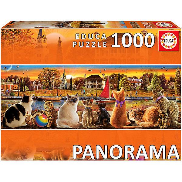 Educa Пазл панорама Коты на набережной, 1000 деталей