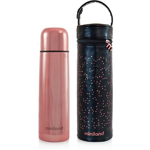 Купить Термос Miniland с термосумкой Delux Thermos 500 мл, бронзовый, Китай, розовый, Женский