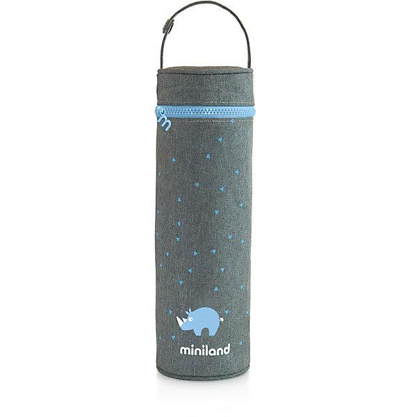 цена на Miniland Термосумка для бутылочек Miniland Silky 500 мл, голубой