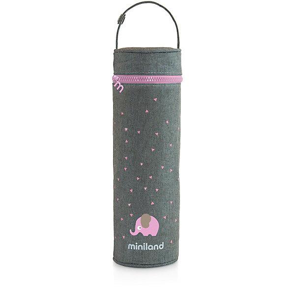 Купить Термосумка для бутылочек Miniland Silky 500 мл, розовый, Китай, Женский