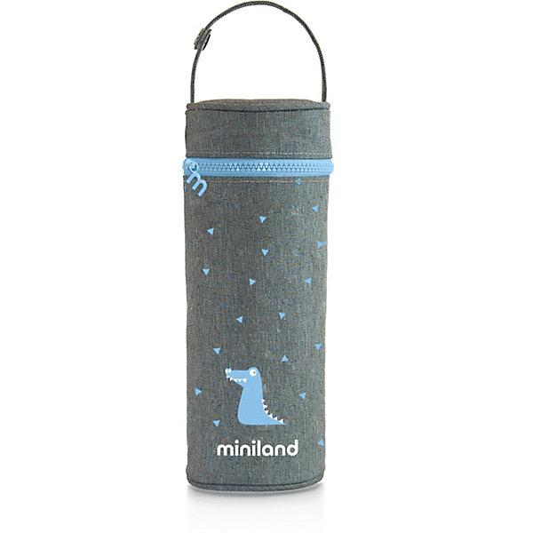 цена на Miniland Термосумка для бутылочек Miniland Silky 350 мл, голубой