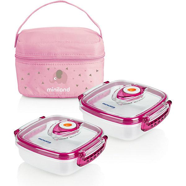 цена на Miniland Термосумка Miniland Pack-2-Go HermifFresh с вакуумными контейнерами, розовая