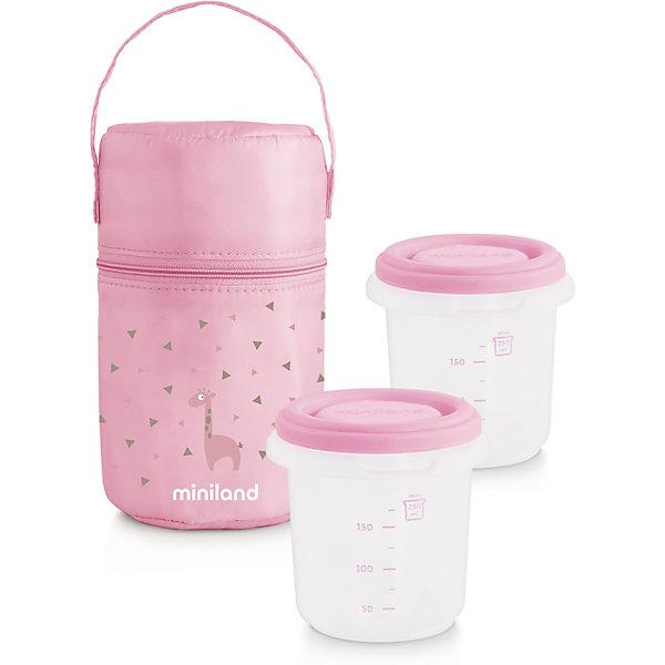 цена на Miniland Термосумка Miniland Pack-2-Go HermiSized с вакуумными контейнерами, розовая