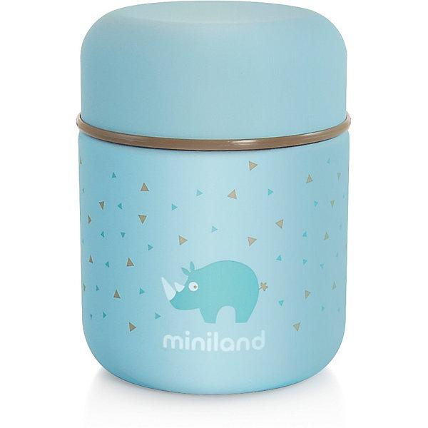 Купить Термос Miniland Silky Thermos Mini 280 мл, голубой, Китай, синий, Мужской