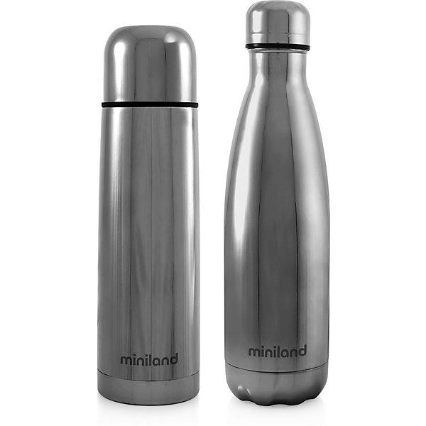 Купить Термос и термобутылка Miniland MyBaby&Me 500 мл, серебряный, Китай, Унисекс