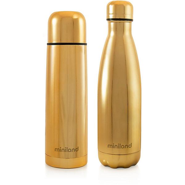 Купить Термос и термобутылка Miniland MyBaby&Me 500 мл, золотой, Китай, Унисекс
