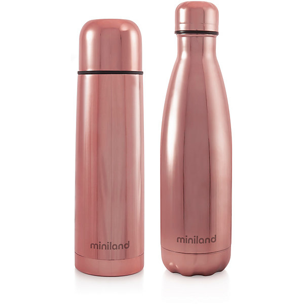 Купить Термос и термобутылка Miniland MyBaby&Me 500 мл, бронзовый, Китай, розовый, Женский