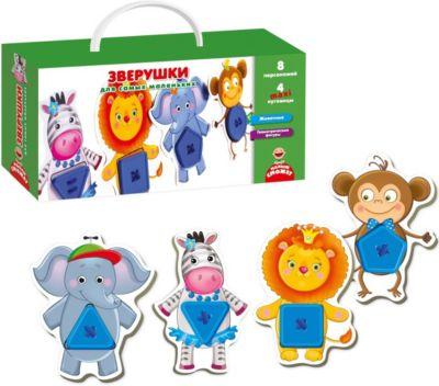 Vladi Toys Развивающая игра Vladi Toys Зверушки для самых маленьких vladi toys игра для самых маленьких зверобус с мешочком