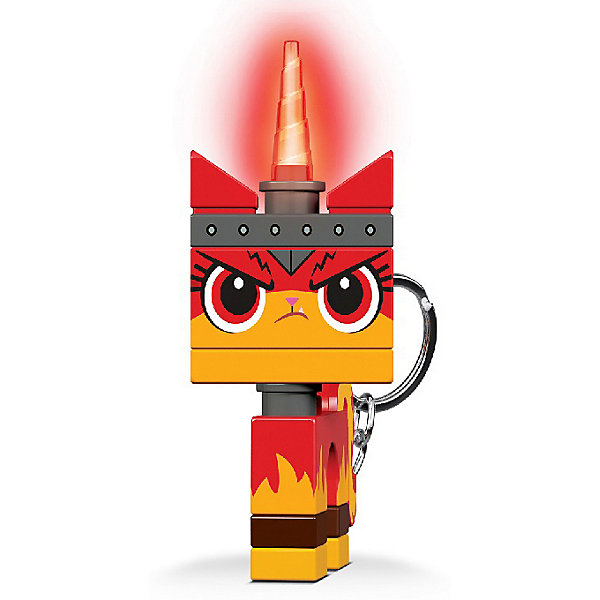 Купить Брелок-фонарик для ключей LEGO Movie 2: Angry Kitty, Китай, оранжевый, Женский