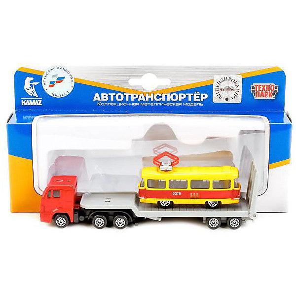 ТЕХНОПАРК Автотранспортер Технопарк Kamaz 1:72, с городским транспортом